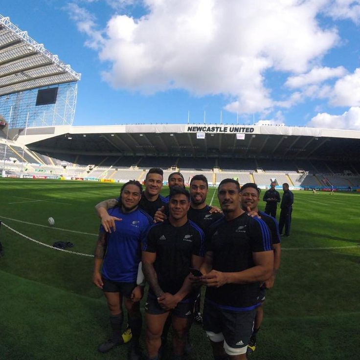 Game day! @allblacks are ready for their game tonight against Tonga at the Rugby World Cup. This shot is from yesterday's captains run at St. James' Park in Newcastle (stadium of Newcastle United). Let's beat Tonga! Pic by All Blacks rugby player @jeromekaino. #GoPro #AllBlacks #RWC2015 #rugby