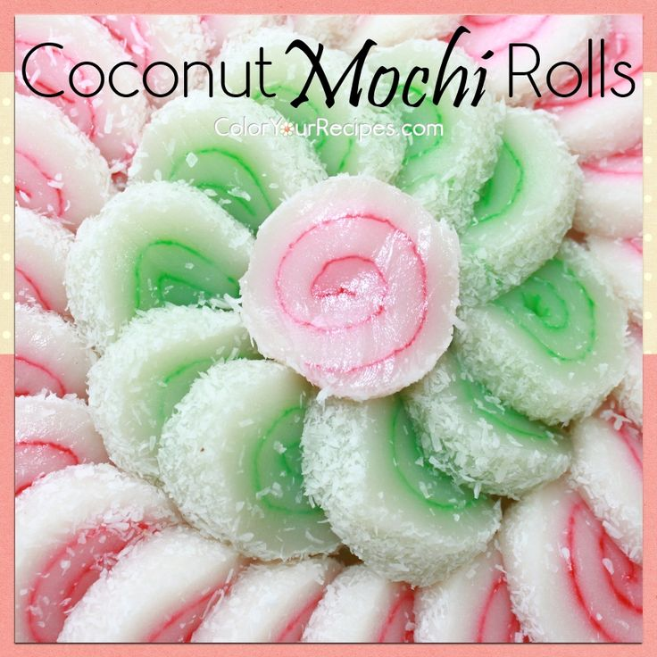 Simple Coconut Mochi Roll Recipe (1) ~ Color Your Recipes