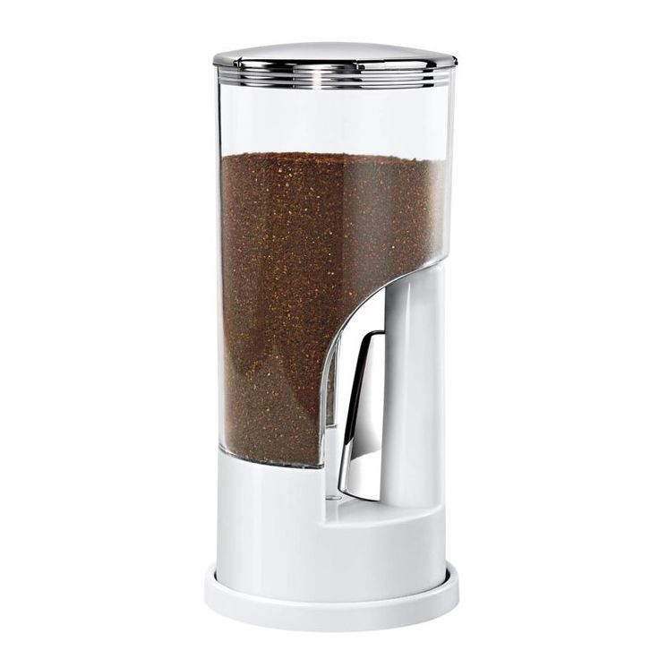 Honey-Can-Do KCH-06076 Ground Coffee Dispenser White Countertop Organizers Storage Canisters