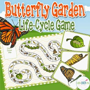 (Be sure to scroll down the page until you see this picture to find this great freebie!) Free Butterfly Garden Life Cycle Gam