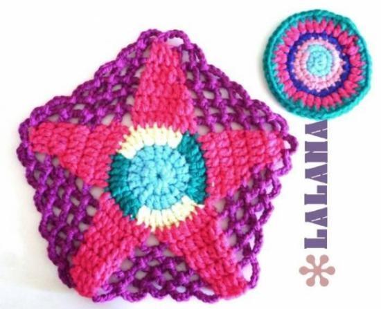 Individuales para mesa posa vaso crochet ganchillo - Individuales para mesa ...