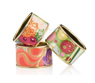 colorful bracelets from Frey Wille