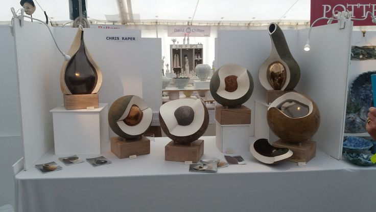 This was Chris Raper's stand at Hatfield Art In Clay 2016 with the Kent Potters Association.