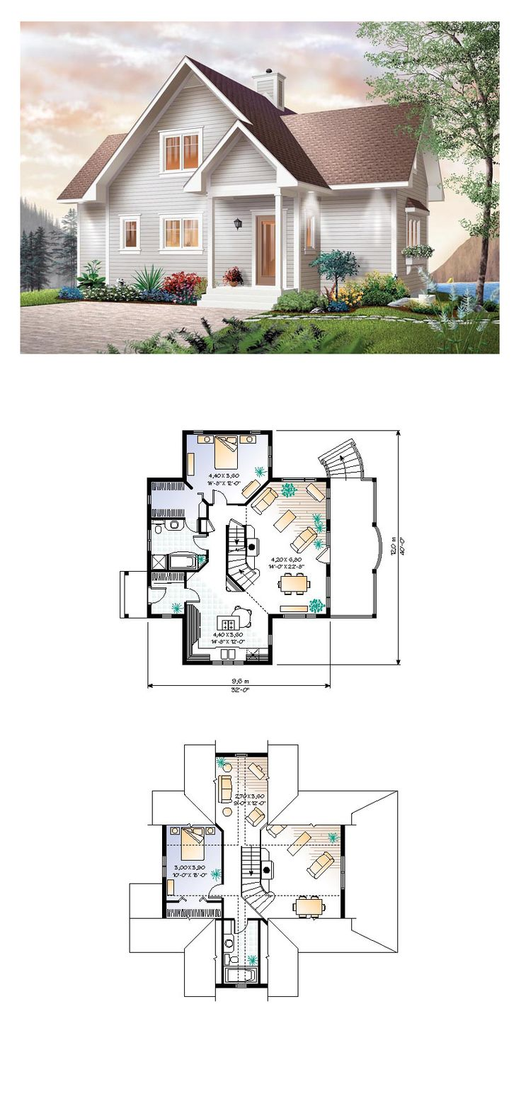 16 best images about cottage house plans on pinterest for Cool houseplans com