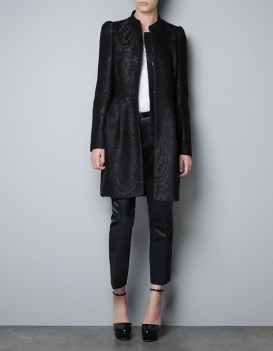 JACQUARD COAT WITH SEAM AT THE WAIST - Blazers - Woman - New collection - ZARA United States