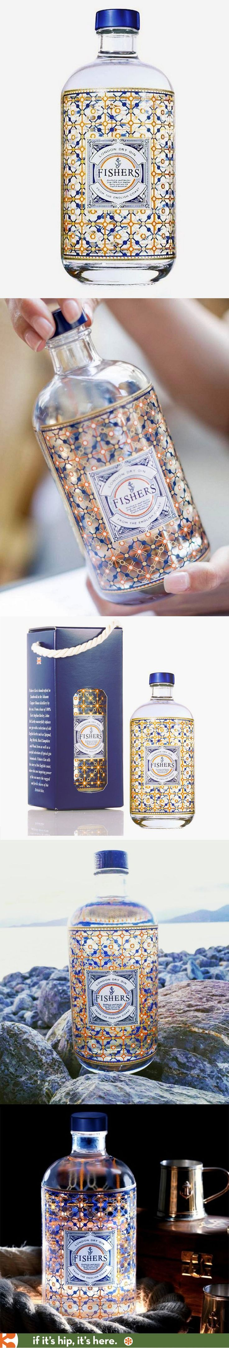 Fisher's Gin has a beautiful bottle and nice box.