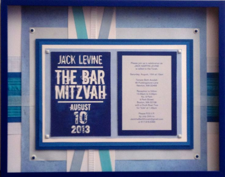 11 best Bar Mitzvah Gifts: framed invitation keepsake collages ...