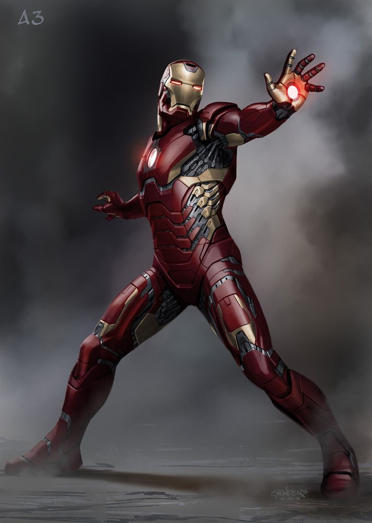 "Early ""Lightweight"" Suit Concept - Iron Man 3 concept art by Phil Saunders"