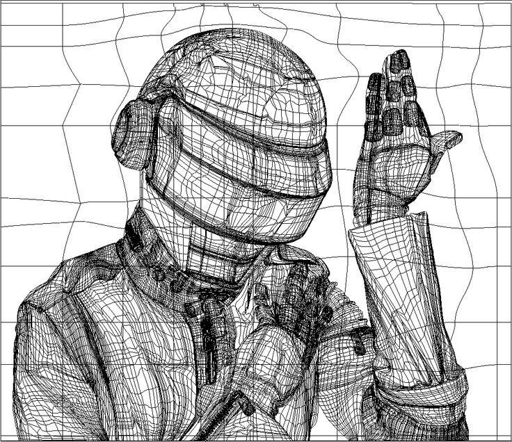 Ilustración de Daf Punk (Malla de Degradado)  Vector
