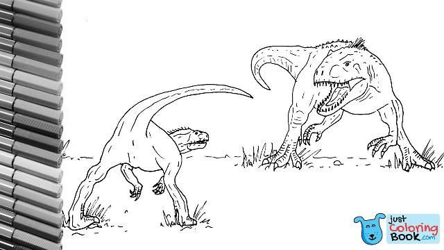 How To Draw Indominus Rex Vs Indoraptor From Jurassic World Dinosaurs Battle Color Pages Regarding Indoraptor Coloring Pages Printable For Free