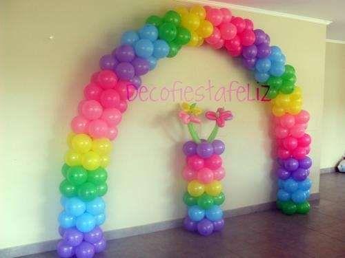 Column and Balloon Arch
