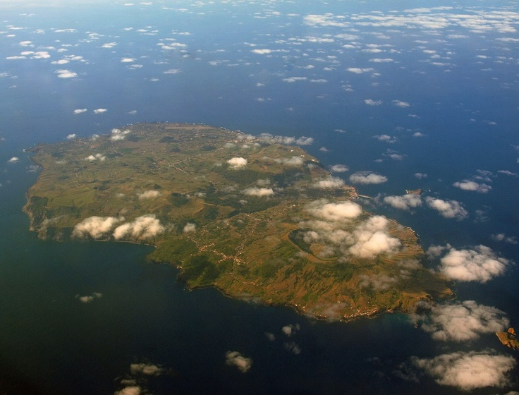 graciosa from airplane