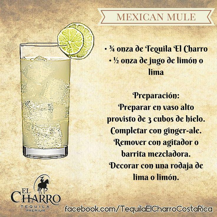 Mexican Mule, con Tequila El Charro! #TequilaElCharro #Tequila #Coctel #Cocktail #MexicanMule