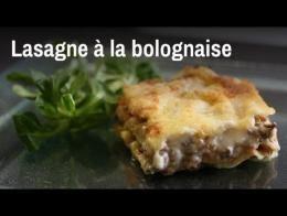 Recette des lasagnes à la bolognaise