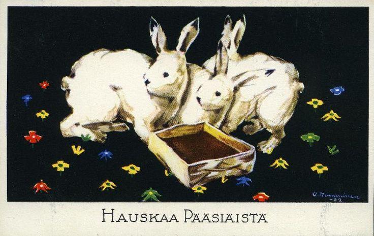 Hauskaa pääsiäistä #pääsiäinen #easter #kortit #cards #puput #jänikset