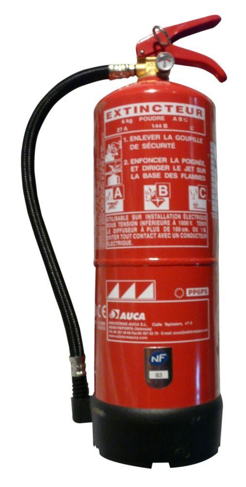 #extincteur poudre ABC 6kg. Certifié NF par l'AFNOR et compatible avec les normes NF EN3, CE et MARINE. Fabriqué #europe