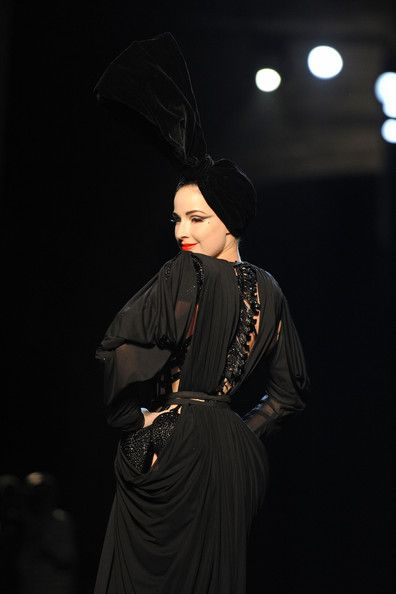 Dita Von Teese Lookbook: Dita Von Teese wearing Jean Paul Gautier Lingerie (5 of 20). All we can say is OMG! Dita looked so fierce on the catwalk sporting a skeleton-inspired corset during Paris' Haute Couture Shows.