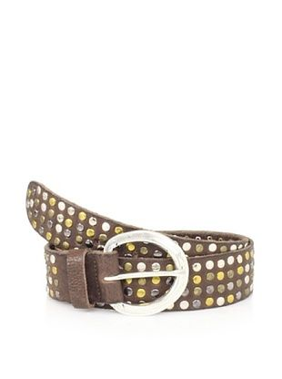 Streets Ahead Women's Mixed Metal Studded Leather Hip Belt