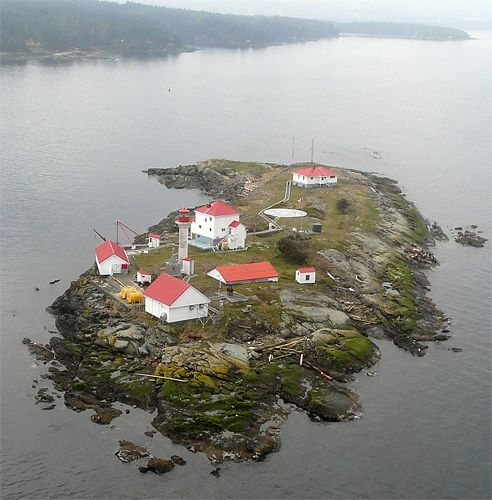 """Entrance Island lighthouse located just outside Nanaimo Harbour on Vancouver Island, BC Canada. This lighthouse station also provides weather info to mariners on the VHF weather channel."" #exploreBC"