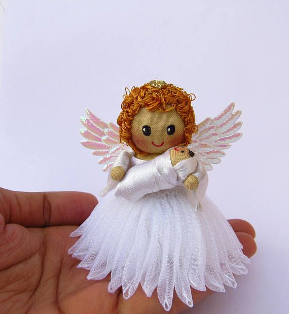Condolence gift  sympathy gift  Angel with baby  christmas