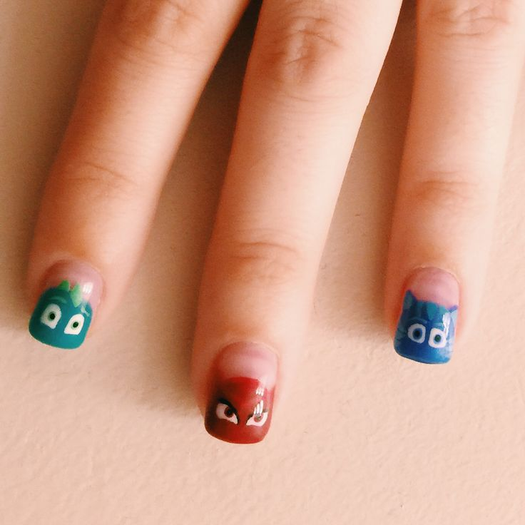 PJ masks nails! Stacey is amazing!