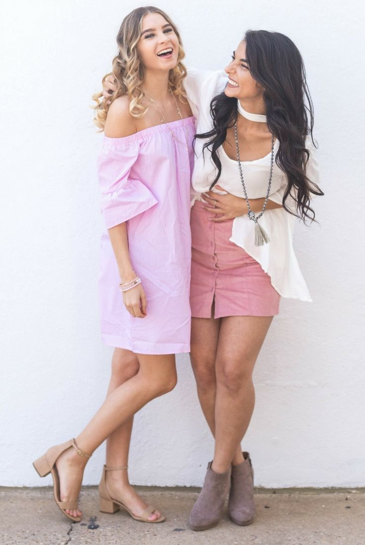 92 Best Pink Outfits Images On Pinterest Business Fashion Casual Jogger Training Army Dc Blond Cotton And White Vertical Stripe Off The Shoulder Flowy Dress Summer Spring Bright Blonde Curls Preppy Copper Closet