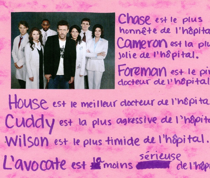 French Superlative Poster with TV show casts (idea from Paloma Julian :)