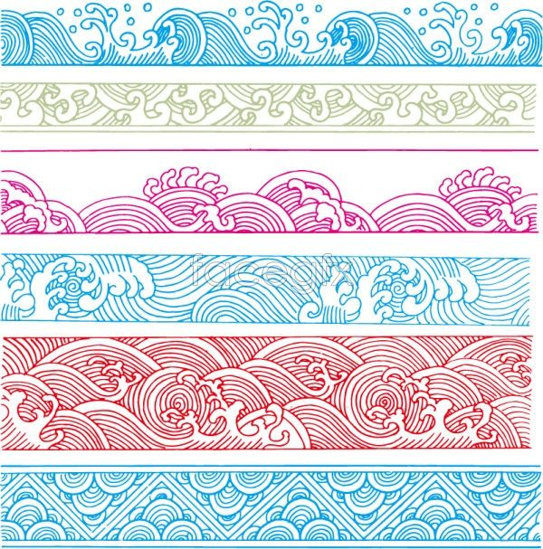 Classical wave pattern Vector