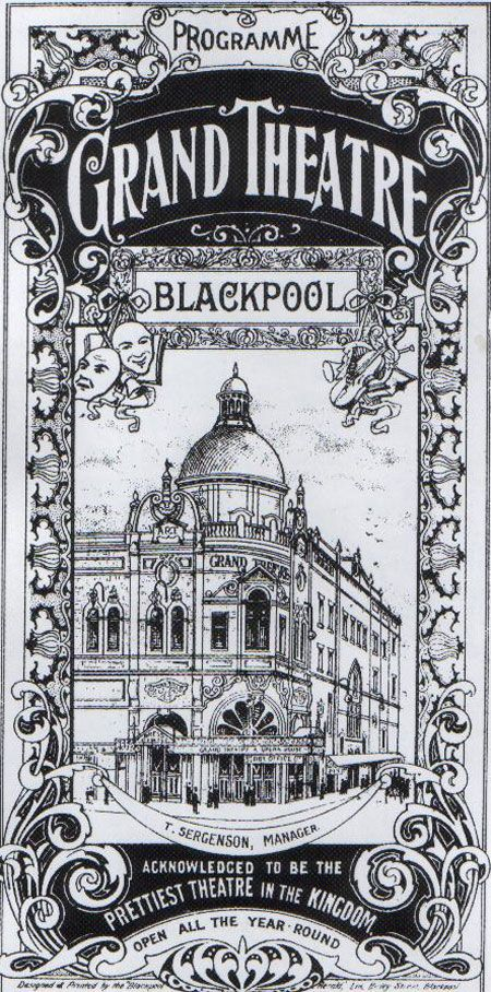 Vintage Poster for the Grand Theatre, Blackpool. ca. 1895