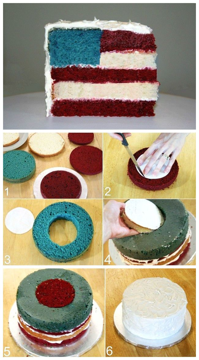 4th Of July Flag Cake  look how cute this is!!