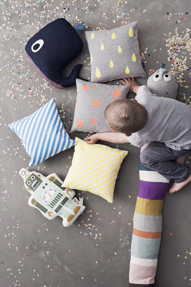 Whale Cushion from ferm LIVING. #kids #cushion