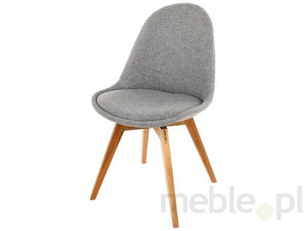 Tenzo Krzesło Nowoczesne Donna Szare Tkanina Nogi Bess Drewniane - DonnaBess-BE-D, Tenzo - Meble