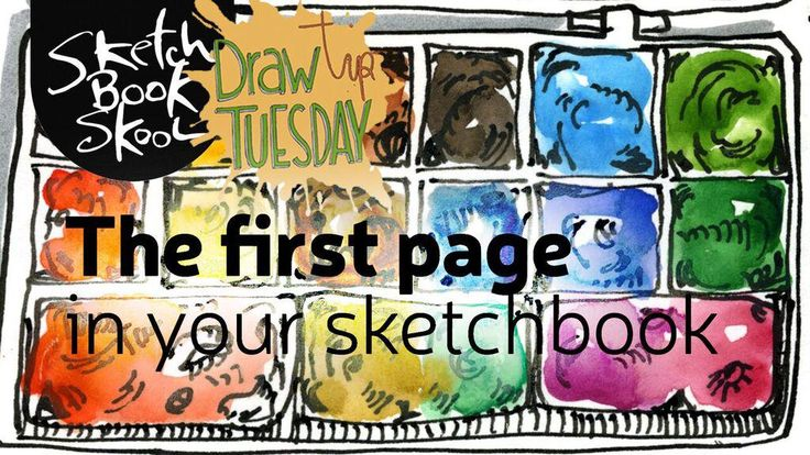 What do you do with that first blank, fresh, somewhat intimidating page in a new sketchbook? Koosje Koene shows you in this week's Draw Tip Tuesday. Many of you have just started our new kourse, Exploring, and over the years you've started new klasses with us that have gotten you in a daily habit …