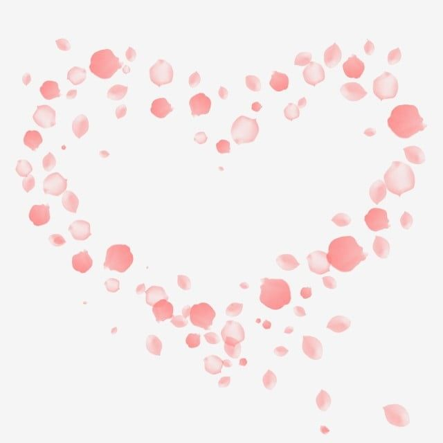 Pink Heart Shaped Romantic Falling Petals Heart Pink Heart Shaped Png Transparent Clipart Image And Psd File For Free Download Pink Flowers Background Pink Heart Heart Shapes