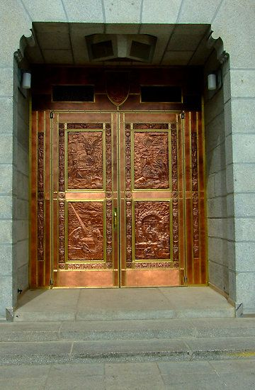 St. Anne's Basilica entry door by LenitaB  Massive, heavy, beautiful copper…