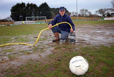 Guernsey FC fans rose to the occasion last night, taking it in turns to operate pitch driers throughout the night in an effort to make the Footes Lane ground playable for today's FA Vase semi-final against Spennymoor Town.