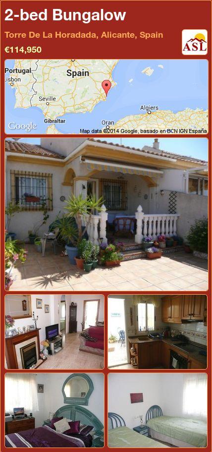 2-bed Bungalow in Torre De La Horadada, Alicante, Spain ►€114,950 #PropertyForSaleInSpain