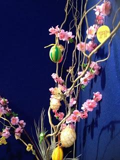 Albero di Pasqua, uova decorate con merletto a fuselli di Mena Renzi