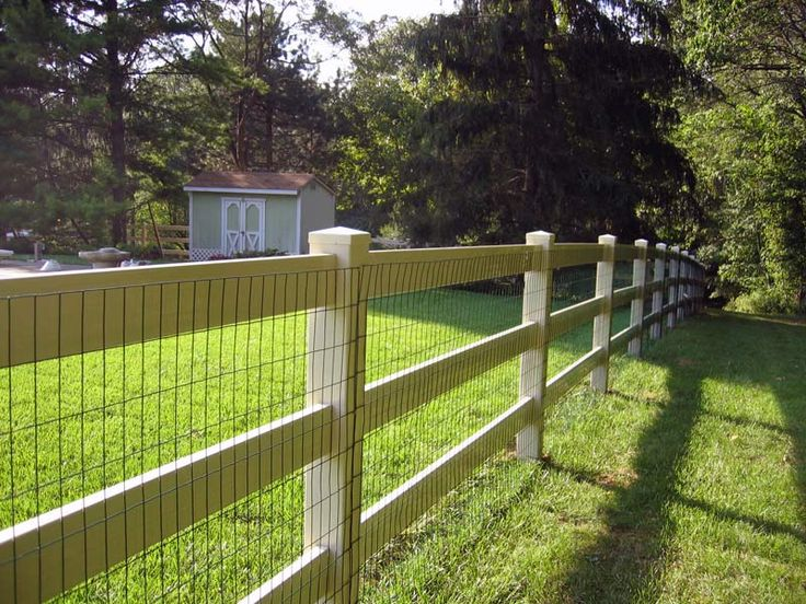Almond Vinyl With Liner Cottage Pinterest Rail Fence