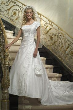 17 best images about modest wedding gowns on sale on for Temple ready wedding dresses