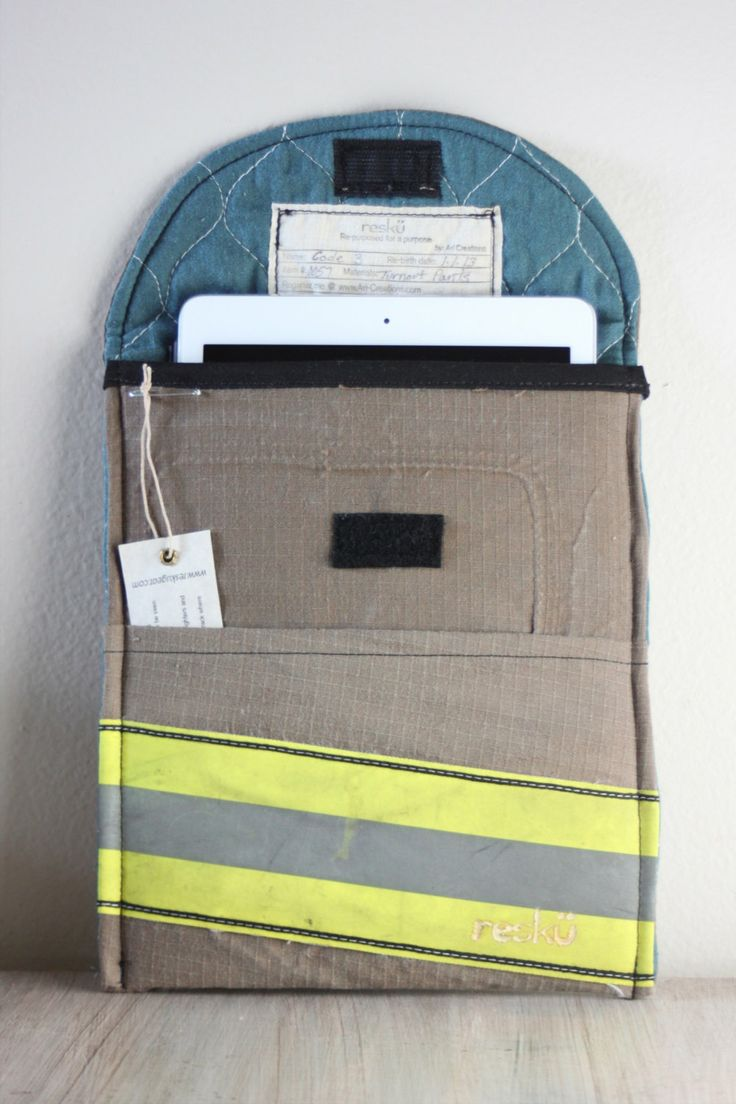 Recycled bunker gear bags - Firefighter Ipad Sleeve From Recycled Bunker Gear By