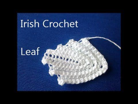 ▶ Irish Crochet Basics, a Leaf - YouTube