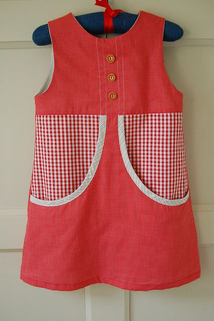 Red Check Van Katoen Dress by bred2make, via Flickr