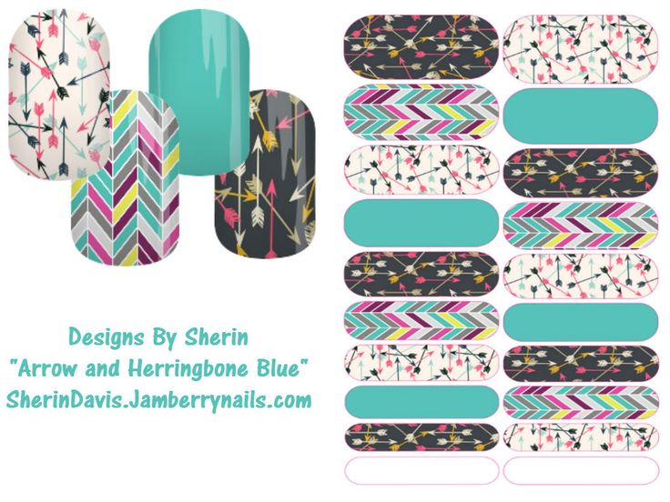 Arrow and Herringbone themed Jamberry Nail wraps with blue accents. Each sheet gets you two manicures and two pedicures plus plenty of left overs. Perfect for anyone nails!Arrow and Herringbone Themed Jamberry Nail Wraps- Designs by Sherin by JamminWithSherin on Etsy
