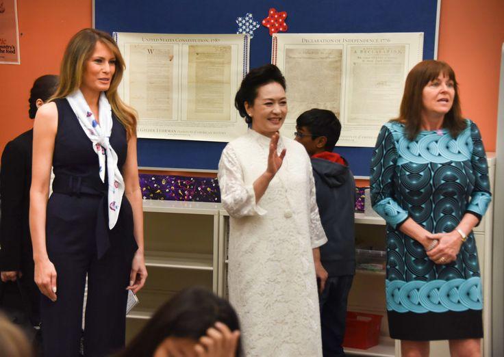 Melania Trump and Peng Liyuan Photos Photos - Melania Trump And ...