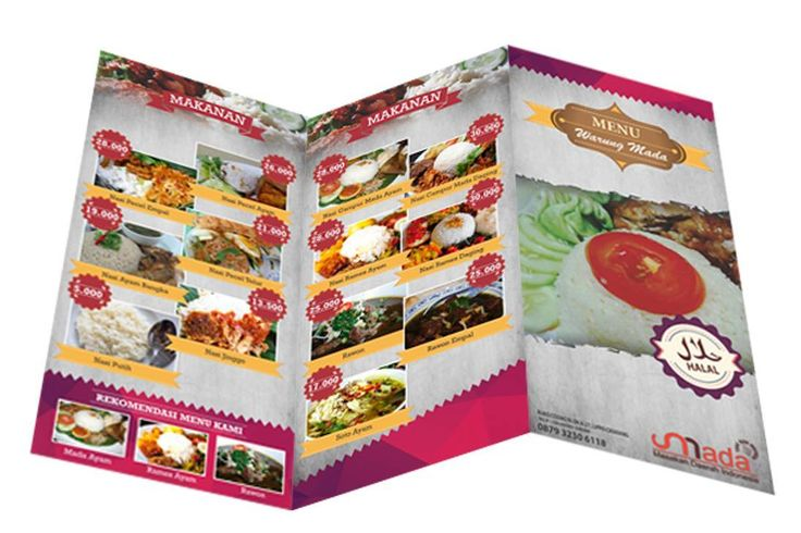 Trifold for local food