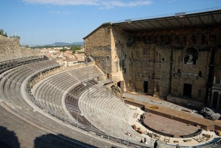 Cultural picnic spot for the win again--Roman Amphitheatre in Orange France