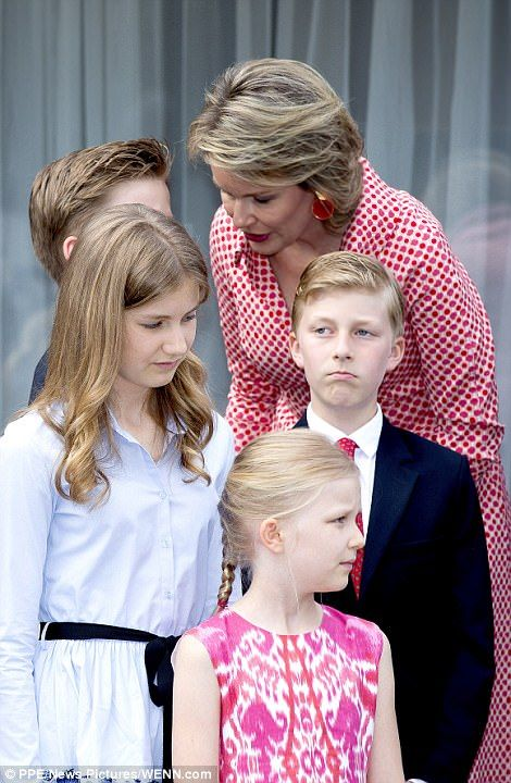 Whilst the former ruler's birthday isn't until September 11, celebrations were held early and it was the first time the entire brood have come together since King Philippe took the throne.