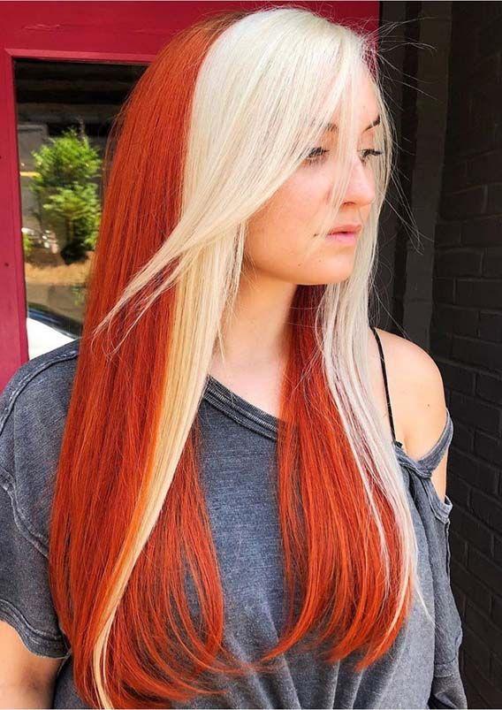 Beautiful Dual Tone Hair Colors for Long Hair in Year 2019