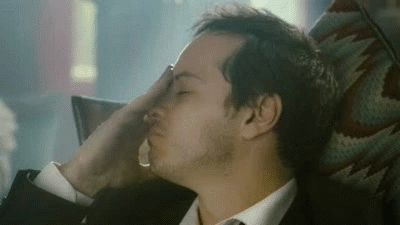 Acting 101: Alright Andrew, your motivation is, how I react when people presume the only character you have ever played is 'Jim Moriarty', and.... GO!
